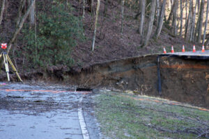 The Eastern Band of Cherokee Indians and the National Park Service are partnering to offer an incentive for early completion of repairs to Newfound Gap Road that was closed due to a landslide last month.  (LYNNE HARLAN/EBCI Public Relations)