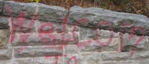 Graffiti at Sinks 2_6_13 on Stone Wall