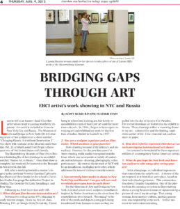 An article entitled Bridging gaps through art, by Scott McKie B.P., garnered him a 1st place award in the 2012 NC Press Awards Arts & Entertainment Reporting category.  (One Feather photo)