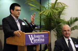 Casey Cooper, Cherokee Indian Hospital CEO, was among the speakers at a special sneak peak open house for members of the western North Carolina medical community on Wednesday, Feb. 27.