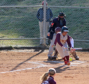 Bree Smith lays down a nice bunt that advanced runners in the third inning of Tuesday's game.