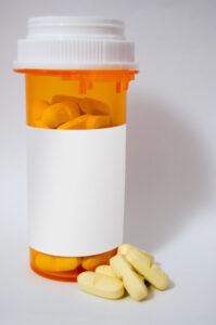 Prescription Bottle - blank label