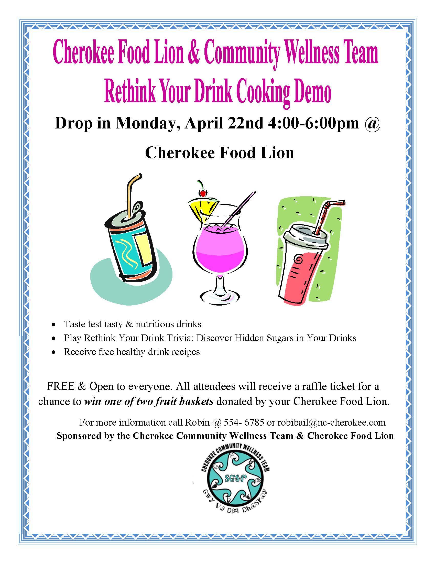 Foodlion Drinks Cooking Demo April 2013