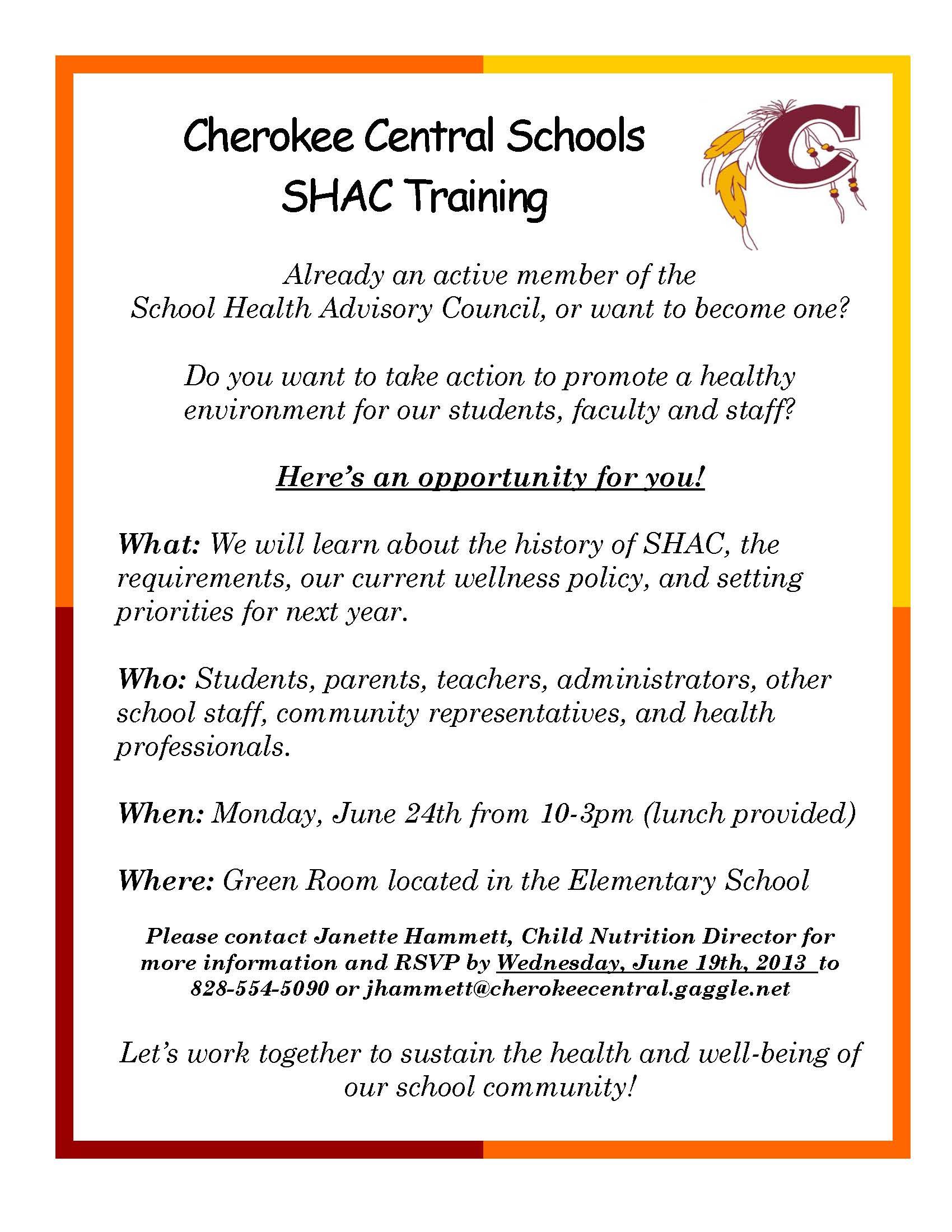 05 28 13_SHAC Training Invite
