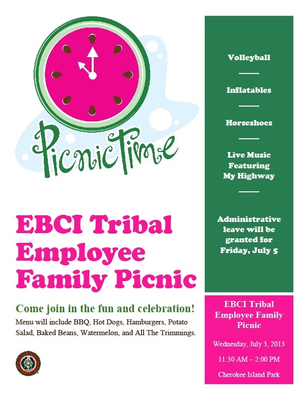 EBCI Picnic Flyer