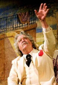 Kurt Sutton as Samuel Clemens, also known as Mark Twain, will bring storytelling and music to the Bardo Arts Center at Western Carolina University on July 28. (WCU photo)