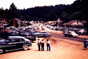 Downtown Cherokee business district as it looked in the early 1950's, the focus of an upcoming video documentary by students at Cherokee High School.   (Photo courtesy of Nathan Robinson)