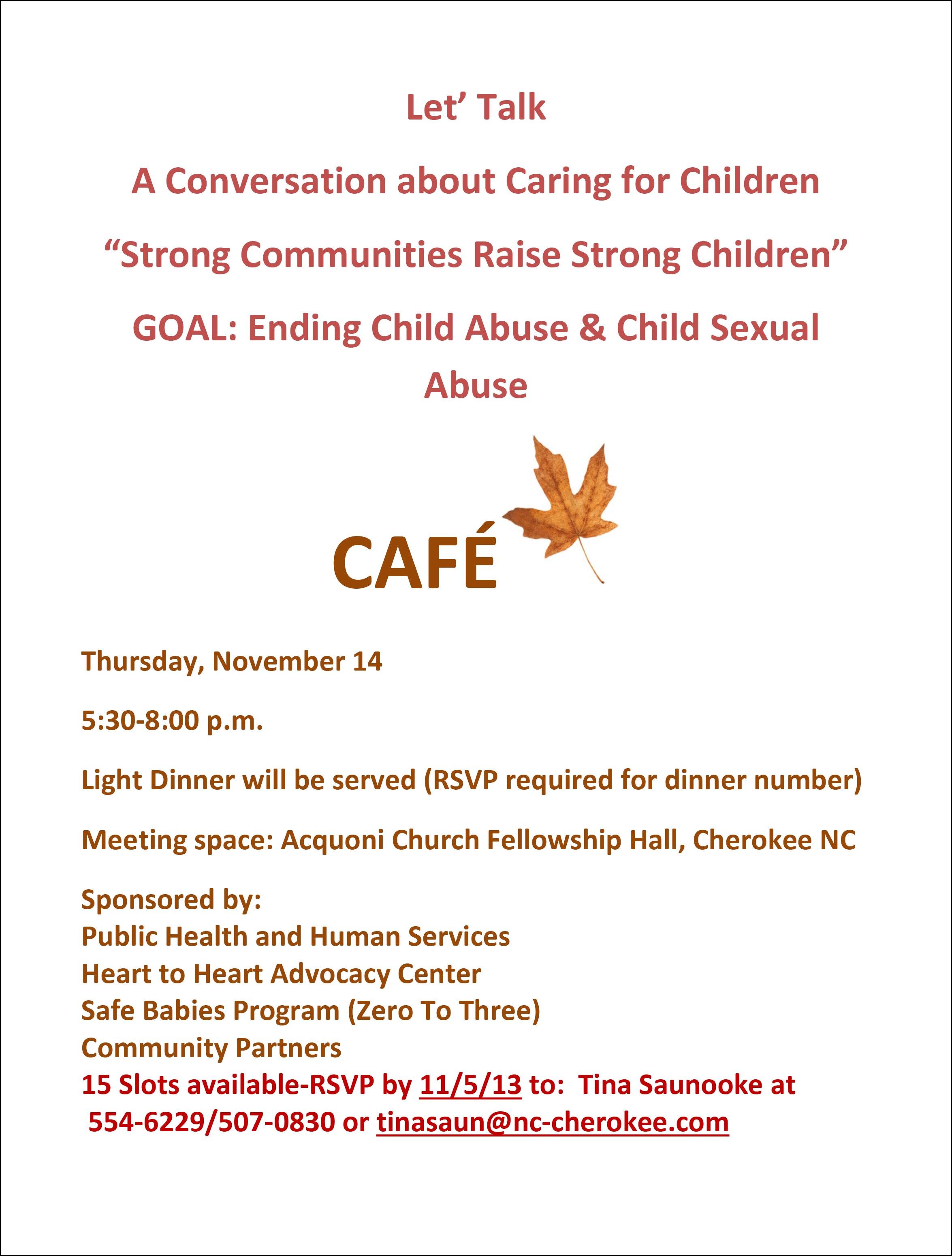 Community Cafe' flyer 3-1