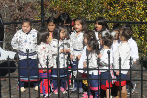 """Students from the Kituwah Academy's Preschool, 3-year old and 4-year old classrooms sing the """"Cherokee Morning Song"""" and """"Amazing Grace"""" in the Cherokee language."""