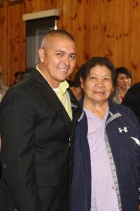 Principal Chief Michell Hicks is shown with Beloved Woman Ellen Bird.