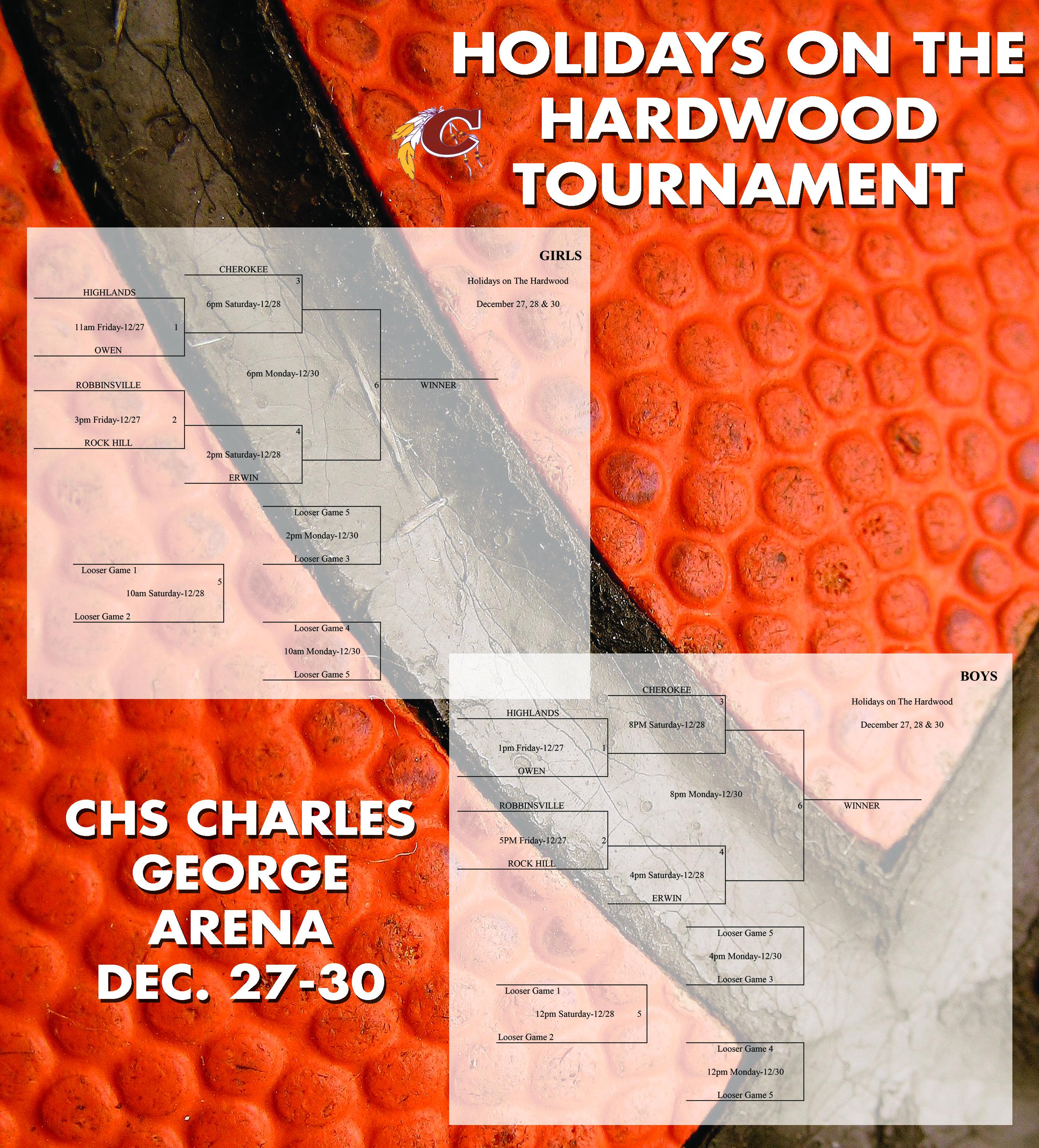 Holidays on the Hardwood Tournament flyer