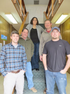 Robins & Morton employees are shown (left-right) including Austin McKinney, project engineer; Bill Stevens, senior superintendent for the project; Sara Crowe, administrative; Marshall Scott, project manager; and Josh Young, superintendent.  (CIHA photo)