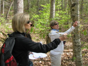 Volunteers learn how to document and monitor phenology during training.  (NPS photo)