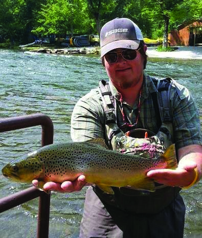 EBCI tribal member Michael Bradley sits atop the leaderboard for Trout Legend for 2014 with a total of 3,651 points.  (Photos courtesy of Michael Bradley)