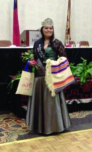 EBCI tribal member Karyl Frankiewicz was crowned Miss Indian North Carolina 2014-15 on Saturday, March 15.  (Photo courtesy of Frankiewicz family)