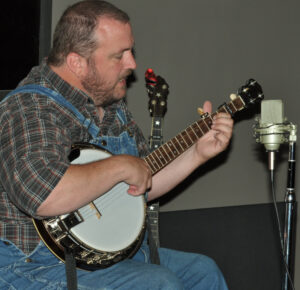 Traditional banjo player Brien Fain plays a tune at last year's Music of the Mountains Festival.  (NPS photo)