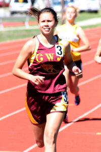 Cherokee junior Kendall Toineeta took second place in the girls 800M and third place in the girls 1600M.