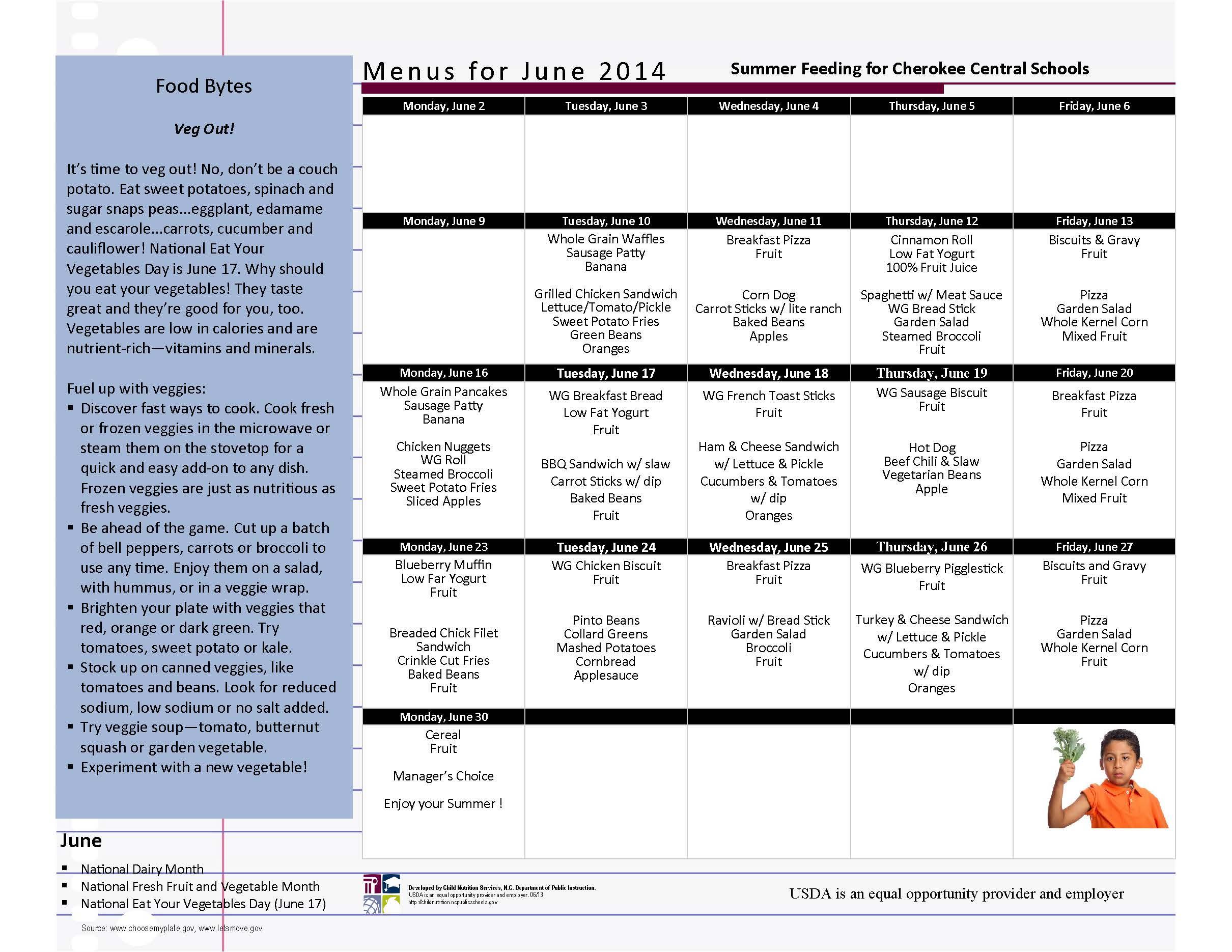 CCS June 2014 Summer Feeding