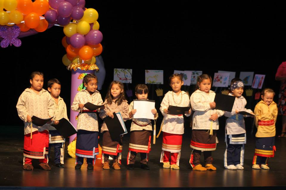 Eight New Kituwah Academy students participated in the Pre-K graduation ceremony held at the Chief Joyce Dugan Cultural Arts Center on Friday, July 25.  (SCOTT MCKIE B.P./One Feather photos)