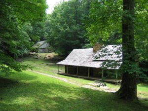The Noah Bud Ogle Cabin along the Roaring Fork Motor Nature Trail will be temporarily closed this summer for a needed wood shake roof replacement. (NPS photo)