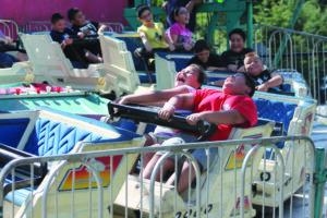 Kids enjoy Children's Day at last year's Cherokee Indian Fair.  This year, Children's Day is scheduled for Wednesday, Oct. 8.  (SCOTT MCKIE B.P./One Feather photos)