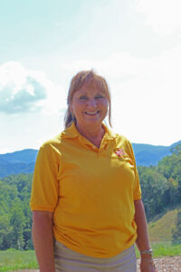 Sharon Bradley, Lady Braves head golf coach, is looking forward to a successful season.  (AMBLE SMOKER/One Feather photos)