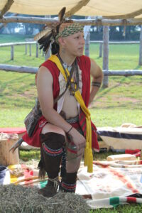 Cody Grant, EBCI tribal member, participates in last year's Great Island Festival at the Sequoyah Birthplace Museum in Vonore, Tenn.  (Photo courtesy of Sequoyah Birthplace Museum)