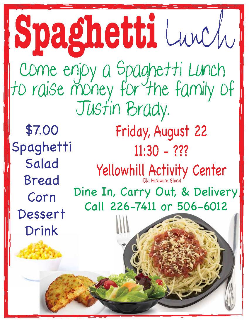 Spaghetti Lunch Flyer