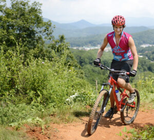 WCU's on-campus trail system provides seven miles of pathway for mountain biking, running and hiking.  (WCU photo)