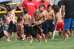 Big Cove plays Wolfetown in a youth game during last year's Cherokee Indian Fair.  (SCOTT MCKIE B.P./One Feather)