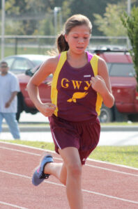 Taylin Bowman finished 23rd in the middle school girls race with a time of 16:32.