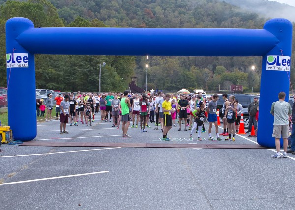 Last year's Cherokee Harvest Half Marathon & 5K drew 600 runners.  This year's event is expected to beat that with over 800 expected.  (Photo courtesy of Greg Duff)