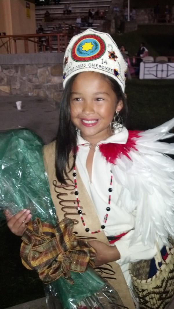 Jenna Grace Cruz was named Little Miss Cherokee 2014 on Wednesday, Oct. 8.  (SALLY DAVIS/One Feather)