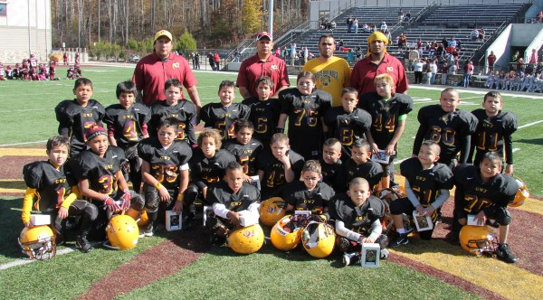 The Cherokee Pee Wee Braves were the runner-up in the Cracker Bowl played at Ray Kinsland Stadium on Saturday, Nov. 8.  (SCOTT MCKIE B.P./One Feather photos)