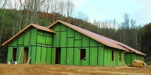 This photo shows the front of the second building at the new Children's Home which is around 30 percent complete.
