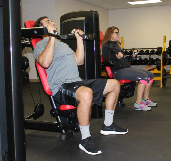 Langston Wood and Vanessa Grant test out the new equipment.