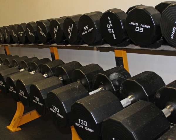 The Cherokee Fitness Complex recently updated the free weight stations to include new dumbbells.