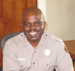 National Park Service Southeast Regional Director Stan Austin named Cassius Cash, a native of Memphis, Tenn., as the new superintendent of Great Smoky Mountains National Park.  (NPS photo)