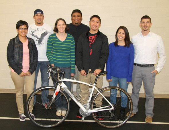The EBCI representatives on the 2015 Remember the Removal Ride are shown (left-right): Kelly Murphy, Jake Stephens, Corlee Thomas-Hill, Kevin Tafoya, Darius Thompson, Savannah Hicks and Matt Martens.  (SCOTT MCKIE B.P./One Feather)