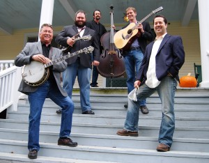The Darren Nicholson Band features Tuckasegee native Nicholson (second from left) performing on mandolin and vocals.  (WCU photo)