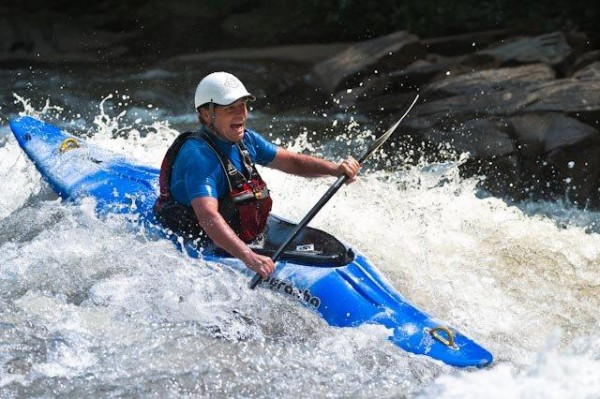 Mark Singleton has a good time on the wild and scenic Rogue River in Oregon.  (WCU photo)