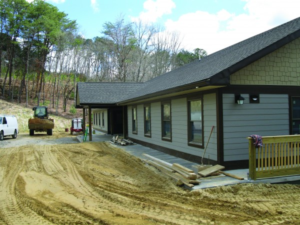Construction on the first building of the new Cherokee Children's Home is almost complete, and, thanks to a $400,000 Cherokee Preservation Foundation grant, construction can continue on the second building.  (Photos courtesy of Cris Weatherford)
