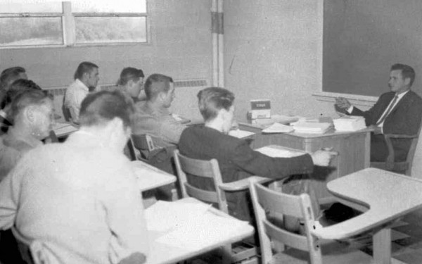 This photo, found in SCC's archives, shows a classroom scene on opening day Dec. 1, 1964.  (SCC photo)