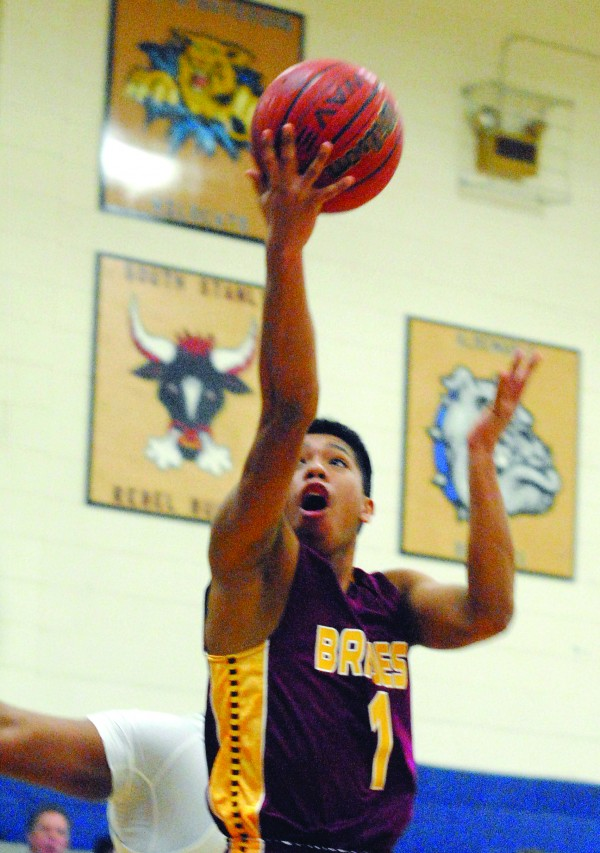 Cherokee's Jason McMillan goes for a layup during a second round state playoff game at Albemarle on Monday, March 2.  He finished the game with 15 points and three steals.   (Photo by Charles Curcio/Stanley News and Press)