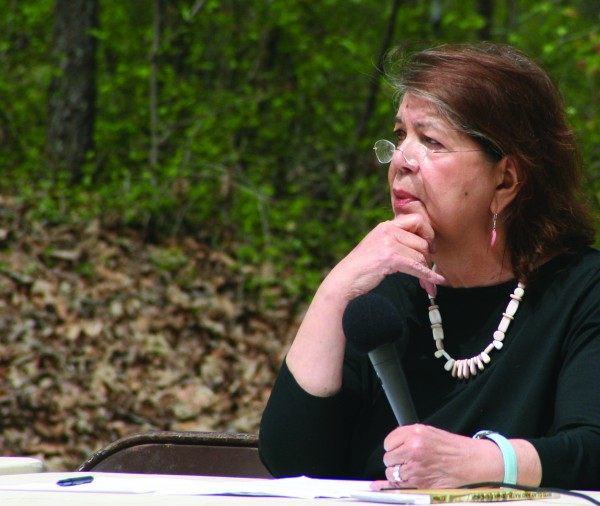 The late Wilma Mankiller, former Principal Chief of the Cherokee Nation, is one of four finalists in a voting contest being run by a group to find a replacement for Andrew Jackson on the $20 bill.  Sen. Jeanne Shaheen (D-NH) has introduced a bill to replace Jackson's image with that of a woman.  (SCOTT MCKIE B.P./One Feather)