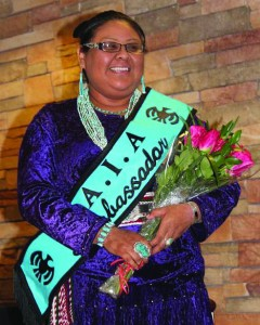 Alberta Nells was selected as the IAIA Ambassador for the upcoming school year.  (IAIA photo)