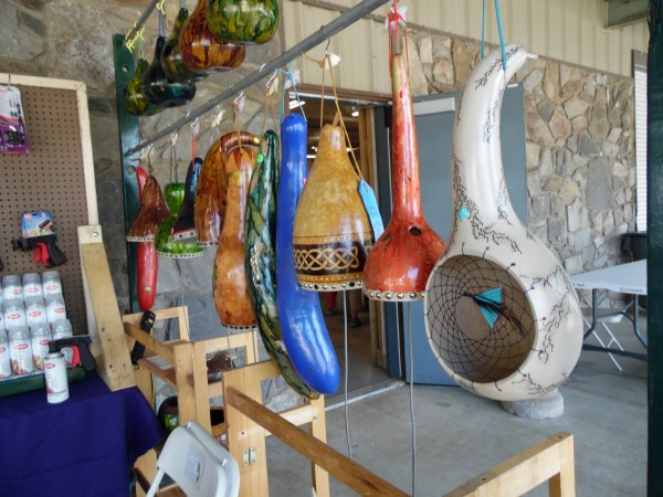 The Cherokee Gourd Artist Gathering is being held this weekend at the Cherokee Indian Fairgrounds.  (ROBERT JUMPER/One Feather)