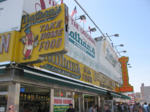 The annual Nathan's Hot Dog Eating Contest is scheduled for Saturday, July 4.  (Photo by J. Reed)