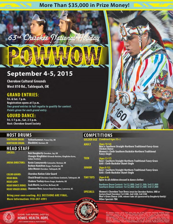 2015 Powwow flyer