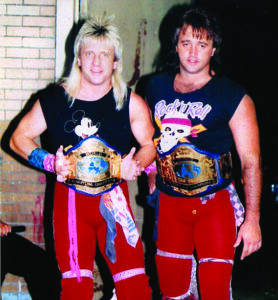 The Rock & Roll Express (Ricky Morton and Robert Gibson) will team with Cherokee's own Ric Youngblood to take on the Enforcers of Pain (Max Mayhem and the Ice Man) in the main event of the RCW show at the Wolfetown Gym on Sept. 19.  (RCW photo)